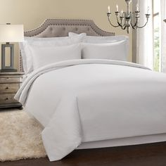 300thread count quilt cover set white