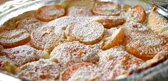 Apricot Clafoutis- Just made this.  It's amazing, perfect balance of sweetness and tartness and texture.  My little apartment smells good too :)