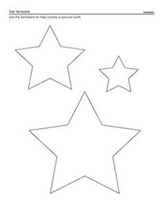 Star Template - A Printable Star Pattern for Kids Shape Templates, Applique Templates, Applique Patterns, Star Patterns, Stencil Patterns, Printable Shapes, Printable Star, Felt Christmas, Christmas Crafts