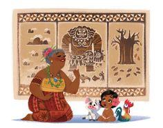 Moana + grandma tala