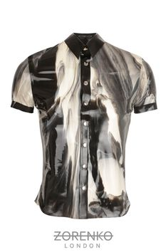 Marble Latex Mens Shirt by ZorenkoLondon