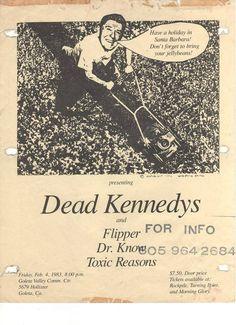Dead Kennedys, Punk Poster, New Flyer, Vintage Concert Posters, Concert Flyer, Slogan Tshirt, Tour Posters, Post Punk, Death Metal