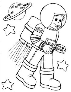 astronaut coloring pages for preschool | Astronauts Coloring Pages Free Printable Download | Coloring Pages Hub