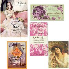NeW! MoRe AsSoRTeD FRenCh PeRFuMe LaBeLs ShaBby WaTerSLiDe DeCALs