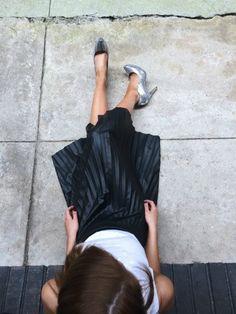 pleated leather skirt | sassy shortcake