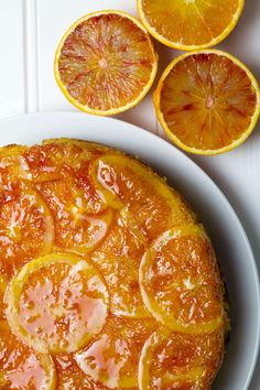 The Ultimate Blood Orange Upside-down Cake. Zesty, moist, flour and fat free Almond and Orange cake.