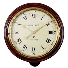 Webster Fusee Dial Clock