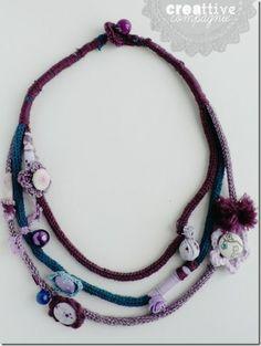 creattivecompagnie  - collana autunnoin tricotin