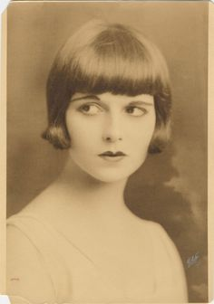 Louise Brooks (Books: Lulu in Hollywood)  Silent film star: Diary of a Lost Girl, Pandora's Box, Beggars of Life (Nov. 14, 1906 ~ Aug. 8, 1985)