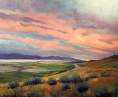 "Simon Winegar Across the Salt Flats oil on panel 40"" x 48"""