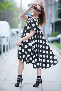 Maxi Dress / Plus size Polka Dots Dress / Party Maxi Dress by EUGfashion by EUGfashion on Etsy