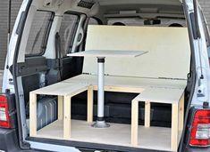 Renault Kangoo Camper Van Conversion Module by Simple Camper Vans Auto Camping, Minivan Camping, Camper Beds, Camper Caravan, Berlingo Camper, Peugeot Partner, Kangoo Camper, Campervan Bed, Folding Campers