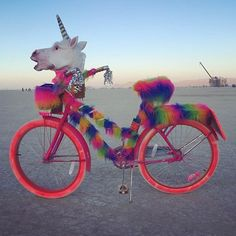 50 surreal desert images of Burning Man 2015 Burning Man Outfits, Burning Man Fashion, Burning Man Costumes, Burning Man 2015, Burning Man Art, Black Rock Desert, Custom Velo, Unicorn Bike, Unicorn Mask