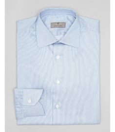 Canali Bengal Stripe Dress Shirt - Contemporary Fit   Bloomingdale's   very subtle stripes for visual interest