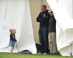 Mike Tindall, 37, also attended the charity polo event as the family turned out to cheer on Zara Phillips