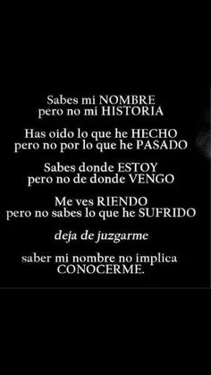No conoces