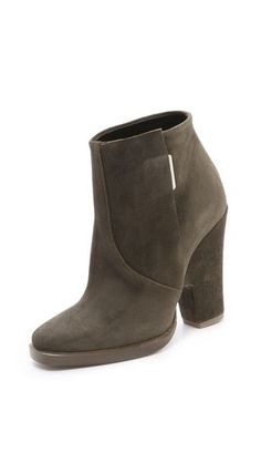 Theyskens Theory Alito Suede Booties