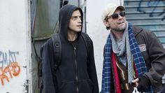 Mr. Robot - Rami Malek and Christian Slater.