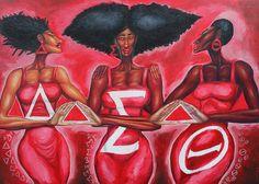 College Sorority, Sorority Sisters, Sorority Life, Delta Sigma Theta Gifts, Alpha Kappa Alpha Sorority, Omega Psi Phi, Zeta Phi Beta, Delta Art, Happy Founders Day