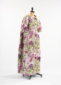 Hubert de Givenchy evening coat (front view)   France, circa 1965   Material: silk   The Metropolitan Museum of Art, New York