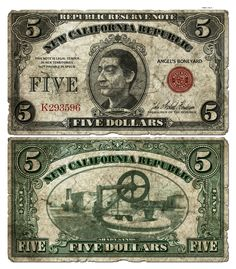 NCR dollars, or Money in Fallout 2, are the standard currency of the New California Republic. The NCR introduced its own money around the turn of the 22nd century and initially it relied on coins minted from gold. By 2241, the economy of NCR dominated the West Coast and coins became universal currency, used by the three big powers: NCR, Vault City and New Reno. During this time bottle caps had become worthless in these regions.