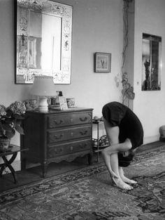 "Robert Doisneau ""Yoga exercise"" May, 1960"