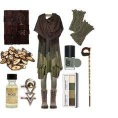 Elemental Gnome by maggiehemlock on Polyvore featuring Object Collectors Item, 291, Viktor & Rolf, Balmain, Dr. Martens, Portland General Store, Clinique, women's clothing, women's fashion and women