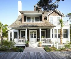 Coastal Style with wonderful porches.