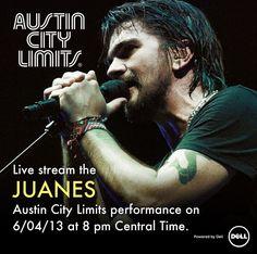 8pm ct transmitiremos el concierto en vivo desde austin city limits