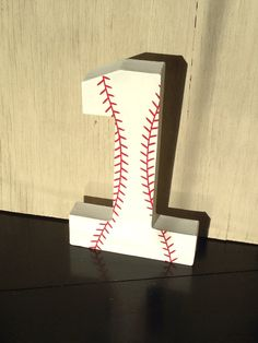 Baseball Stand Up Decorative Numbers, Birthday Party, Photo Prop by LettersFromAtoZ on Etsy