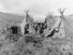 Arapahoe camp Near Casper, Wyoming On the site of the old Oregon Trail 1880-1910.