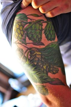 hops tattoo - Hops is such a beautiful vine!