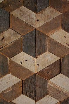 Reclaimed Wood Wall Art Decor Lath Pattern от EleventyOneStudio