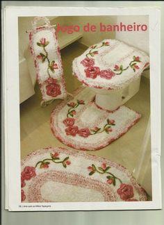 Rose Ragazzon Crochê: Jogo de Banheiro fio Ísis - Estilotex