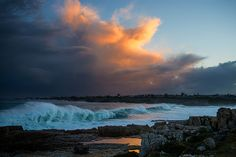 Storm over Hermanus South Africa South Africa, Cape, Places To Go, Waterfall, Destinations, Southern, Sky, Explore, Sunset