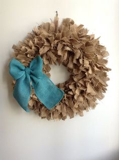 Hey, I found this really awesome Etsy listing at https://www.etsy.com/listing/166222680/burlap-christmas-wreath-large-24-blue