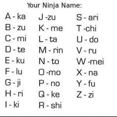 Convert your name into a Ninja Name - Posted in Funny, Troll comics and LOL Images - LOL Heaven