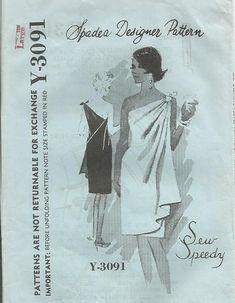 1960s Greek Goddess One Shoulder Draped Cocktail Evening Dress