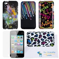 The Friendly Swede (TM) Bundle of 4 Colorful and Graphic Cases / Covers / Skins for Apple Ipod Touch 4g 4th Generation + Screen Protector Film - With Microfiber Cloth in Retail Packaging by The Friendly Swede, http://www.amazon.com/dp/B0088NPVB4/ref=cm_sw_r_pi_dp_9fyRqb01HGGM1
