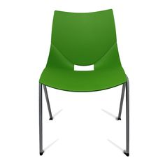 Color: Green Shell chairs by Italian designer Angelo Pinaffo are lightweight, stackable, and durable with a unique and elegant design. Eight designer colors from beige to bold orange make these the perfect chairs for any decor. They have a clever opening in the back for drainage, making them ideal for deck or patio use. The shells are designed for superior strength in the seams where other chairs tend to break down.