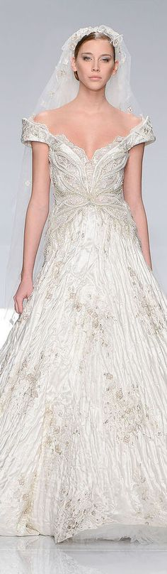 Wedding dress, Tony Ward Couture - Summer 2013 Collection #bride #dress