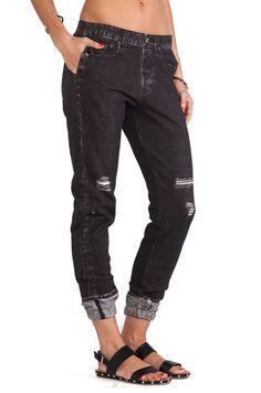 NWT rag & bone / Jean MIRAMAR Pajama Sweatpants  XS Rock w/ Holes (Charcoal ) #ragbone #PajamaSweatpants