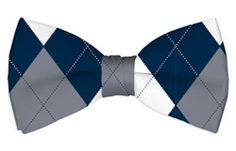 Navy & Gray Mens Bow Tie by Loudmouth Golf.  Buy it @ ReadyGolf.com Grey Bow Tie, Mens Golf, Bows, Men's Apparel, Navy, Bow Ties, Stuff To Buy, Accessories, Fashion