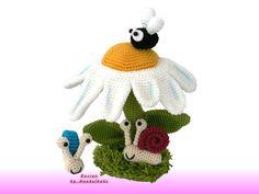Häkelanleitungen - Tierisches Gänseblümchen -- Häkelanleitung - ein Designerstück von Haekelkeks bei DaWanda