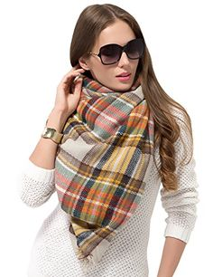 Dimore Fashion Women Scarf Shawl Wraps Pashminas (#13). Scarf Shawl Size: 55.1*55.1inch,Measurements taken while laying flat and relaxed so there will be a deviation of 0.3-0.9 inch . Plaids Checks,Brand new and high quality. Plaid Scarves:oversize women winter Tartan Wrap Scarf Shawl Neck Warmer. Scarf so very soft and cozy. The colors are timeless and so beautiful for the fall or Winter. Unisex large scarves,best gift for Christmas and any festival. Wash: Hand wash cold better * Do not…