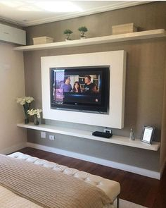 Painel TV Sala de TV Painel prateleiras