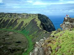 The Rano Kau crater may not be the most recognizable sight on Easter Island, but it's a worthwhile reason to make the journey to this remote Chilean island. Located within the World Heritage–designated Rapa Nui National Park, the volcano is some 1,000 feet high and its crater more than half a mile wide. —Lauren Kilberg Read more: The Most Intense Volcanic Craters in the World