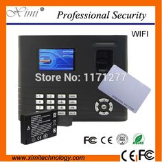RFID card free shipping fingerprint time attendance door lock TCP/IP WIFI network built in battery time recorder equipment #Affiliate
