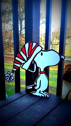 Christmas Snoopy Yard Cutout -Constructed of premium cabinet grade 1/2 thick wood -All items are hand drawn and painted (acrylic paint) -Sealed with a protective outdoor gloss sealant -Your order includes stakes and screws for easy setup and display in your yard  *Please do not hesitate to reach out with any questions or custom requests.