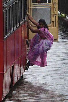 Mumbai: An intrepid commuter
